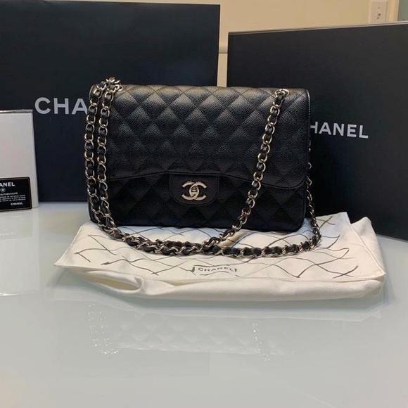 05f8eed74906c4 CHANEL Bags | Double Flap Silver Hw Jumbo Classic All Inc | Poshmark